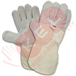 Cotton Leather Handling Gloves PLTSJ12