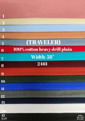 Traveler 100% Cotton Heavy Drill Plain Shirting Fabric