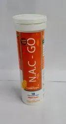 N- Acetyl Cysteine Effervescent Tablet