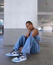 Daily Wear White Nike Air Jordan 1 Shoes, Size: 36 To 40