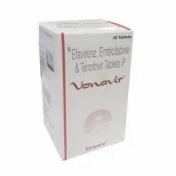 Vonavir Tablet (Emtricitabine (200mg) + Tenofovir disoproxil fumarate (300mg) + Efavirenz (600mg)