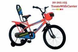 Harman Floro Orange 20 Inch Bmx Torato With Carrier.20x 2.125