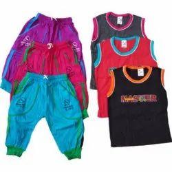 Kids Sleeveless T Shirt Capri Set