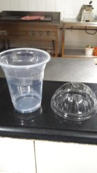 Transparent 350ml Plastic Glass With Lids