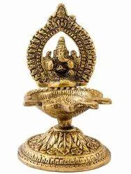 Gold Plated Ganesh Diya For Pooja Purpose & Corporate Gift