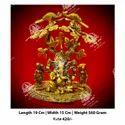 Metal Kala Riddhi Siddhi Ganesh God Statue