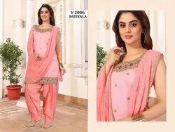 VB Sons Zorba Silk Ladies Party Wear Stitched Patiyala Suit