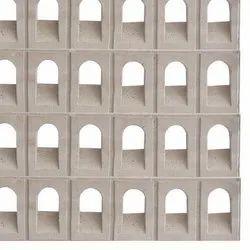 Square Gray Cement Rcc Grill