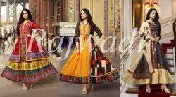 Party Wear 9 Color Ank Enterprise Printed Designer Long Gown