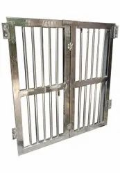Hinged Silver Stainless Steel Gate, Size: 4 X 4 Feet