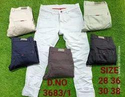 Cotton/Linen Plain Men Casual Trousers, Size: 28-36/30-38