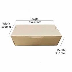 Kraft Paper Box For Food(500ML)