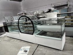 Glass Commercial Corian Display Counter, For Bakery