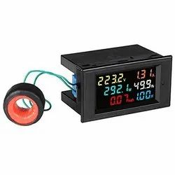 Quick Sense Energy Meter 6 in 1, 80V-300V AC 100A Power Meter with Multi-Colour Digital Display