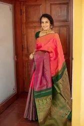 Kanchipuram Cotton Silk Saree