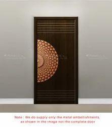Antique Brass Door