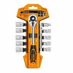 Ingco 12Pcs 1/4 Socket Set