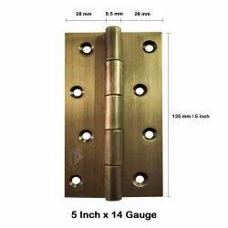 Atlantic Door Butt Hinges 5 inch x 14 Gauge/2 mm Thickness (Stainless Steel, Antique Finish)