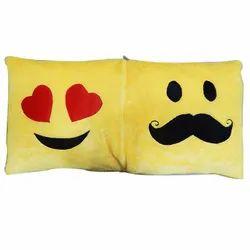 Smiley square Couple Cushion