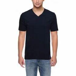 Half Sleeve AVAILABLE IN 10 COLOURS Men V-Neck T-Shirts, Size: S M L XL 2XL