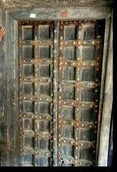 Exterior Antique Barma Teak Wood Door, For Home, 8*4