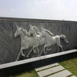 Horse stone murals
