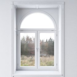 White Arch Upvc Window, Glass Thickness: 5 MM