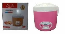 Deuralux Pink Electric Rice Cooker, For Home, Capacity: 2.8 Litre