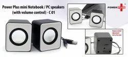 Premium Black Power Plus Mini Notebook / PC Speakers (with Volume Control), For Entertainment, 300