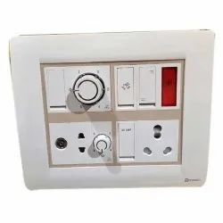 For Home Plastic Square Electric Switch Board, 2, Ip 65