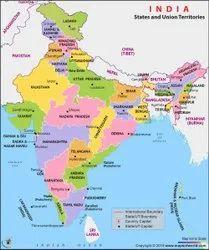 English PVC Political State Map