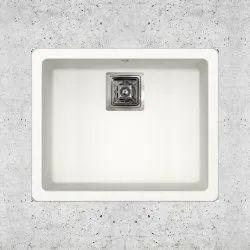 Metone Single Quartz Kitchen Sink With Matt Finish, Size: 16x18x8 Inch