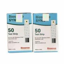 Biosense Sync Glucometer Strips 50 Test