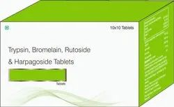 Trypsin, Bromelain & Rutoside With Harpagosides Tablets