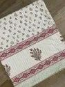 Hand Block Printed Cotton Kantha Bed Cover