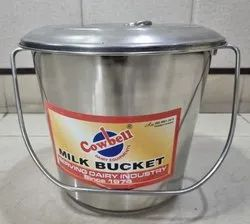 07 Ltr Stainless Steel Milk Can with Lid