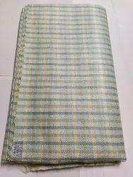 Check Pure Silk Fabric