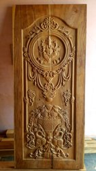 Exterior Teak Wood Carving Door, For Home, 7*3