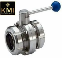 304 SS Dairy Butterfly Valve With SMS Union