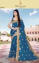 Party Wear  Fancy Satin Saree