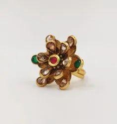 Golden 38mm Antique Brass Finger Ring