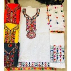 Multi pc Cotton Formal Wear Embroidered Salwar Kameez