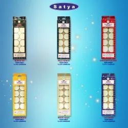 White Round Satya Perfumed T-Lite Candles