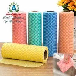 Check & Plain Cotton Anmolfabtex Kitchen Towel Spunlace Non Woven Fabric