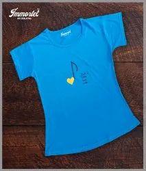 Immortel Half Sleeve Ladies Printed T Shirt