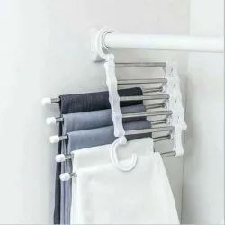 White Stainless Steel Pant Hanger and Organiser, For Hanging Clothes, Size: 35 X 20 X 3 cm