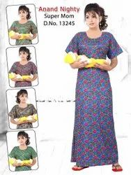 Full Length Cotton Ladies Mother Nighty, Free Size