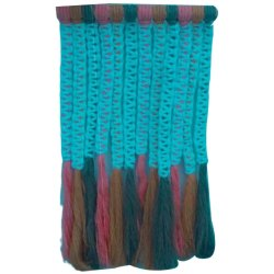 Blue Cotton Handmade Macrame Wall Hanging, For Decoration, Size: 12x15inch