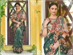 Designer Bridal Hand Work Saree