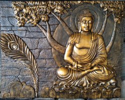 Fiber Buddha Wall Mural